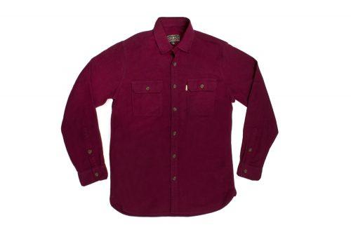 Wilder & Sons Gorge Chamois Shirt - Men's - burgundy/burgundy, large