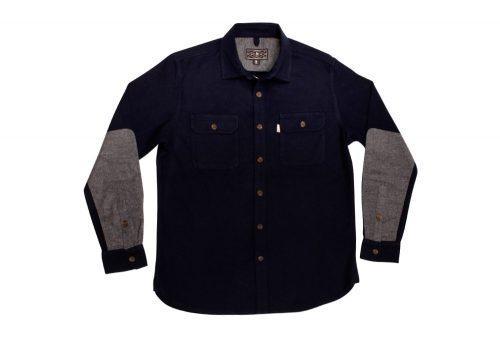 Wilder & Sons Gorge Chamois Shirt - Men's - navy / grey, large
