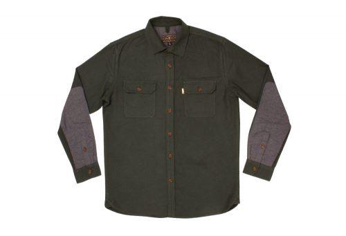 Wilder & Sons Gorge Chamois Shirt - Men's - pine/grey, small