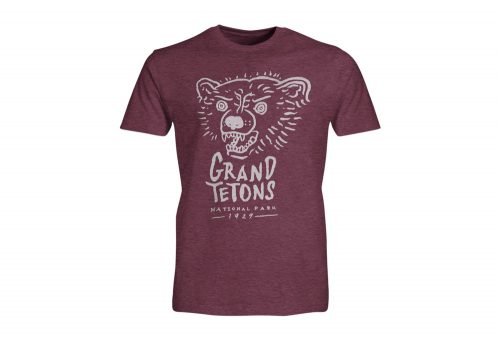 Wilder & Sons Grand Tetons National Park Short Sleeve T-Shirt - Men's - burgundy heather, small