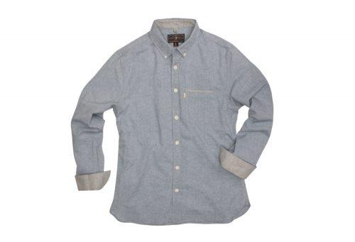 Wilder & Sons Hawthorne Long Sleeve Button Down Shirt - Men's - light blue, medium