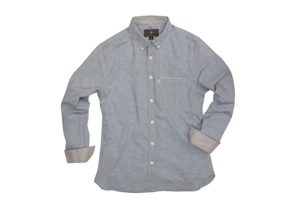 Wilder & Sons Hawthorne Long Sleeve Button Down Shirt - Men's - light blue, small