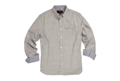 Wilder & Sons Hawthorne Long Sleeve Button Down Shirt - Men's - stone, large