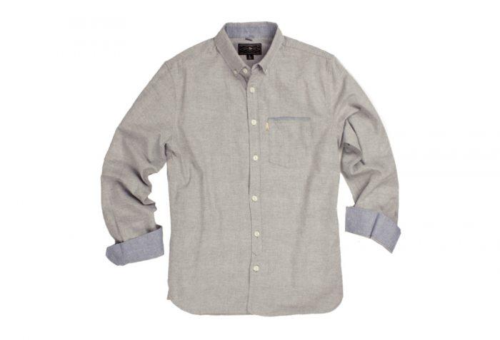 Wilder & Sons Hawthorne Long Sleeve Button Down Shirt - Men's - stone, x-large