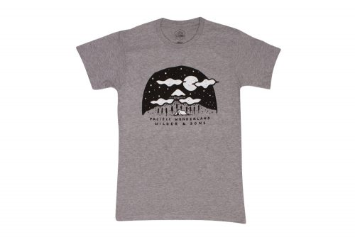 Wilder & Sons Pacific Wonderland Mountains Tee - Men's - athletic heather, small
