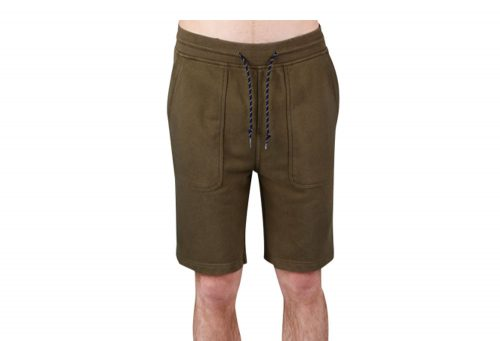 Wilder & Sons Sandy Fleece Shorts - Men's - military olive, small