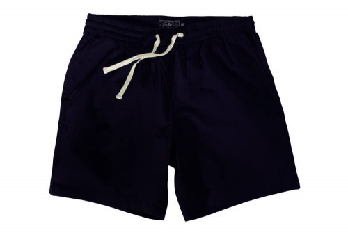 "Wilder & Sons Seaside Volley 6"" Shorts - Men's - navy blue, large"