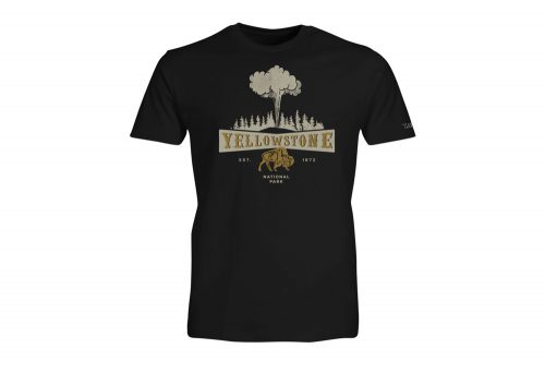 Wilder & Sons Yellowstone National Park Short Sleeve T-Shirt - Men's - black, small