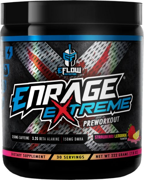 eFlow Nutrition Enrage Extreme - 30 Servings Strawberry Lemonade