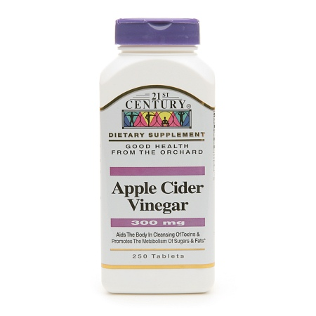 21st Century Apple Cider Vinegar 300mg - 250 tablets