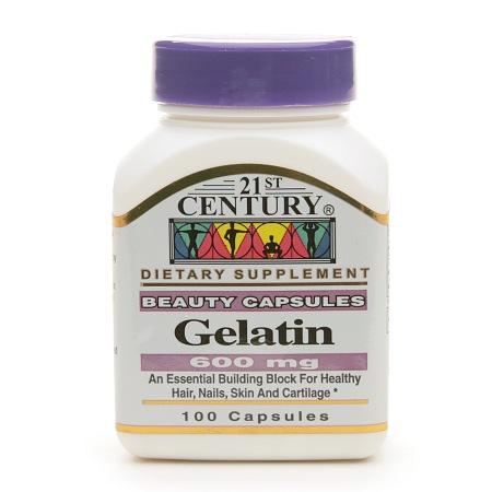 21st Century Gelatin 600mg, Beauty Capsules - 100 capsules