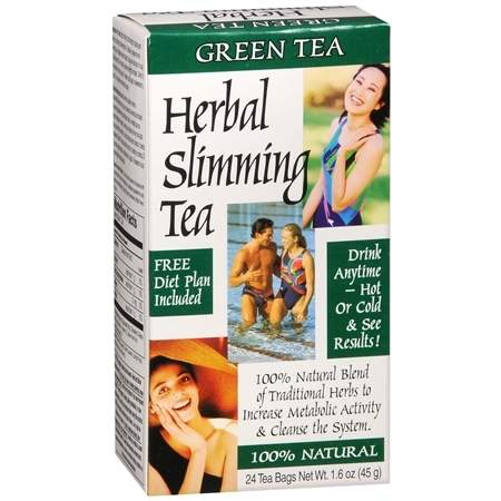 21st Century Herbal Slimming Tea Green Tea - 0.06 oz.