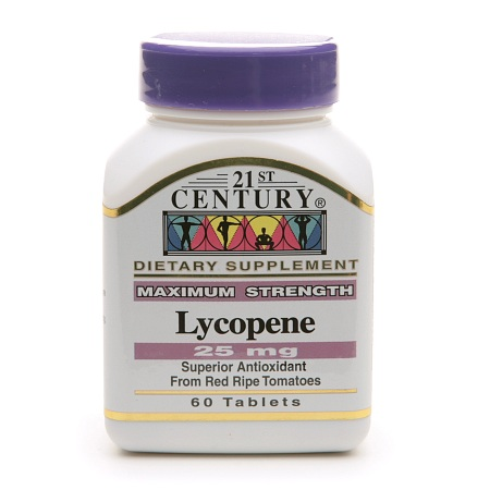 21st Century Lycopene 25mg, Maximum Strength - 60 tablets