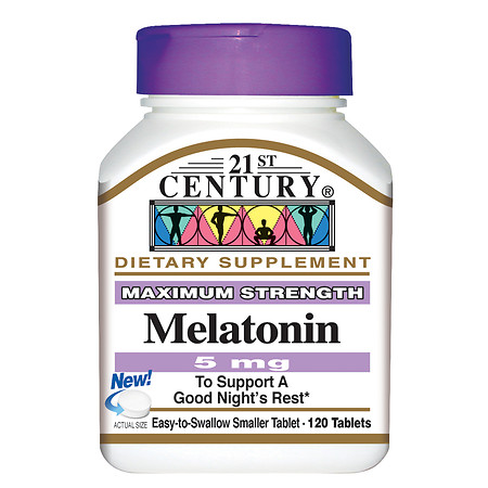 21st Century Melatonin 5mg, Maximum Strength - 120 tablets
