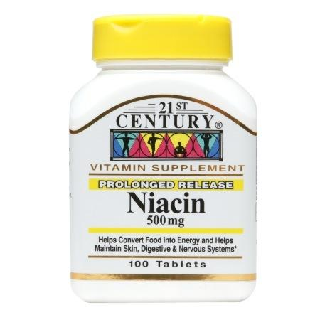 21st Century Niacin 500mg, Prolonged Release, Tablets - 100 ea