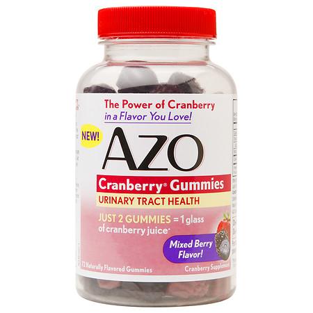 AZO Cranberry Gummies Urinary Tract Health Mixed Berry - 72 ea