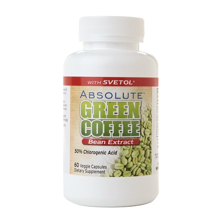 Absolute Nutrition Absolute Green Coffee Bean Extract with Svetol, Capsules - 60 ea