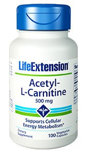 Acetyl-L-Carnitine, 500 mg, 100 vegetarian capsules