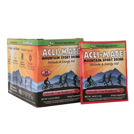 Acli-Mate Mountain Sport Drink Altitude & Energy Aid Packets Colorado Cran-Raspberry - 0.46 oz.