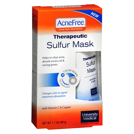 AcneFree Sulfur Face Mask with Vitamin C for Clearing Acne - 1.7 oz.