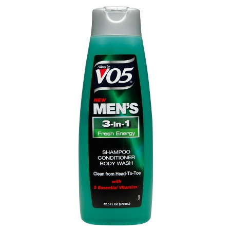 Alberto VO5 Men's 3-IN-1 Shampoo, Conditioner & Body Wash Fresh Energy - 12.5 fl oz