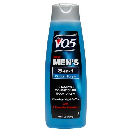 Alberto VO5 Mens 3-IN-1 Shampoo, Conditioner & Body Wash Ocean Surge - 12.5 fl oz