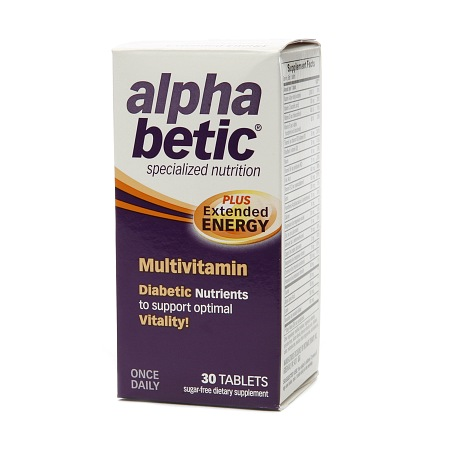 Alpha Betic Once-A-Day Multivitamin Supplement - 30 tablets
