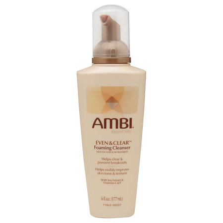 Ambi Even & Clear Foaming Cleanser - 6 fl oz