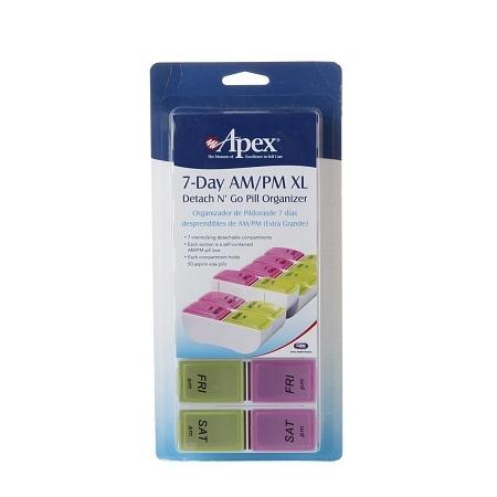 Apex Detach N' Go Pill Organizer 7-Day AMPM XL - 1 ea