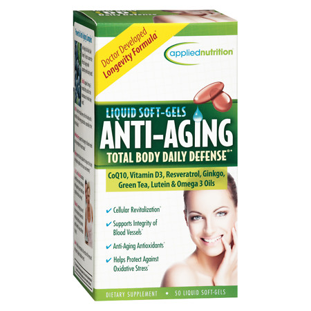 Applied Nutrition Anti-Aging Dietary Supplement Liquid Softgels - 50 ea