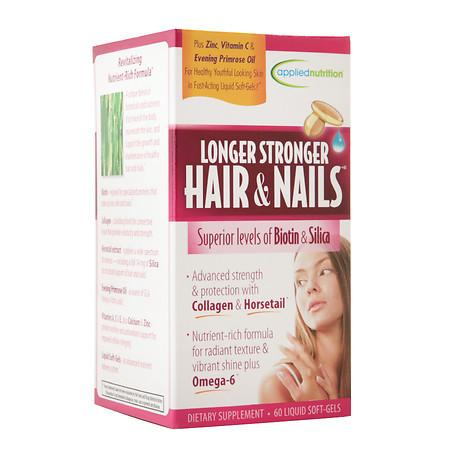 Applied Nutrition Longer Stronger Hair & Nails Dietary Supplement Soft-Gels - 60 ea