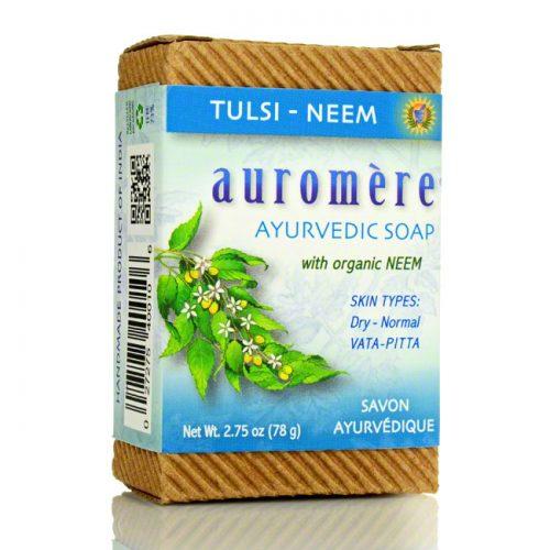Auromere Ayurvedic Tulsi Neem Soap, 2.75 oz