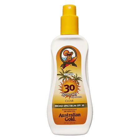 Australian Gold Clear Spray Gel, SPF 30 - 8 fl oz