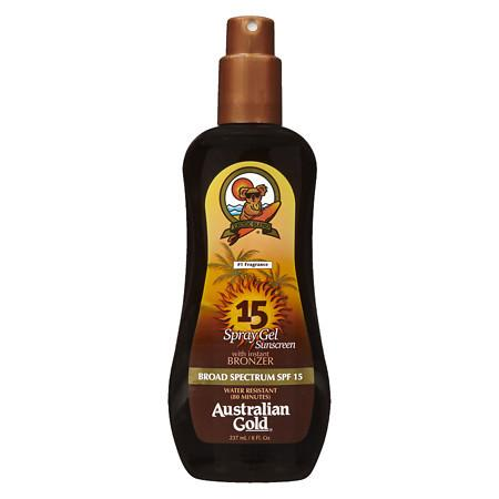 Australian Gold Spray Gel with Instant Bronzer, SPF 15 - 8 fl oz