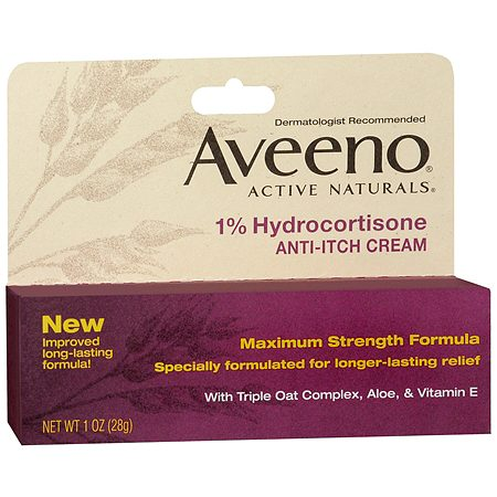 Aveeno Active Naturals 1% Hydrocortisone Anti-Itch Cream - 1 oz.
