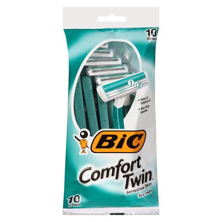 BIC Comfort Twin Sensitive for Men, Disposable Shaver - 10 ea