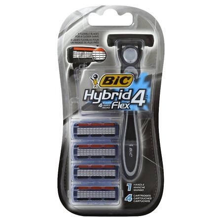 BIC Hybrid 4 Advance For Men, Disposable 4-Blade System - 1 ea