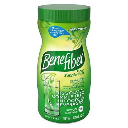 Benefiber Non-Thickening Powder, Sugar Free Unflavored, 38 dose - 5 oz.