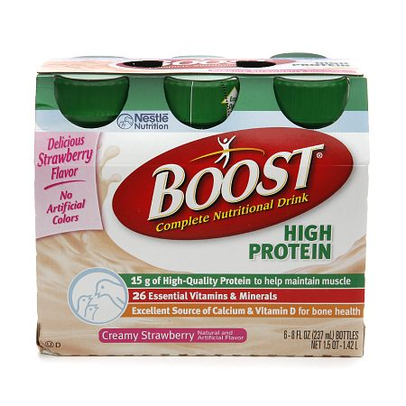 Boost High Protein Complete Nutritional Drink Creamy Strawberry - 8 oz.