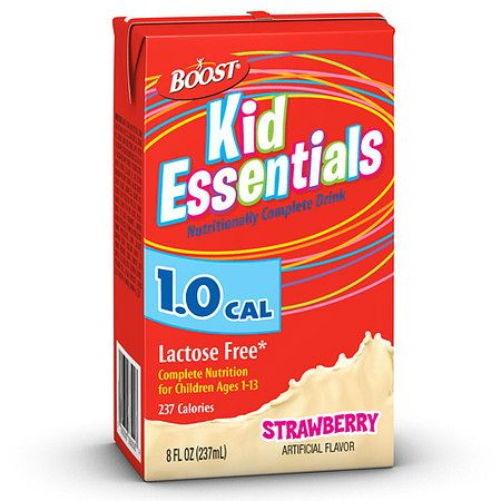 Boost Kid Essentials 1.0 Cal Medical Nutrition Drink Strawberry - 8 oz.