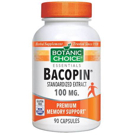 Botanic Choice Bacopin 100 mg Herbal Supplement Capsules - 90 ea.