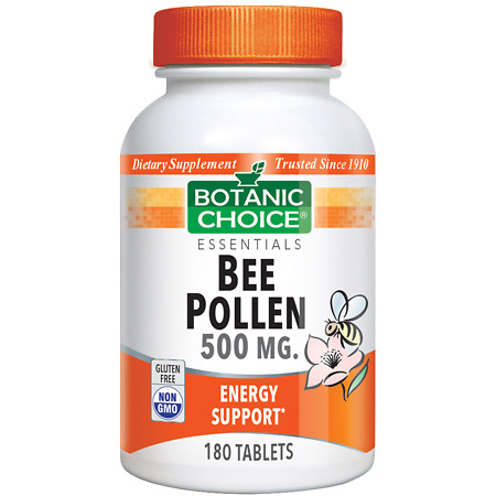 Botanic Choice Bee Pollen 500 mg Dietary Supplement Tablets - 180 ea.