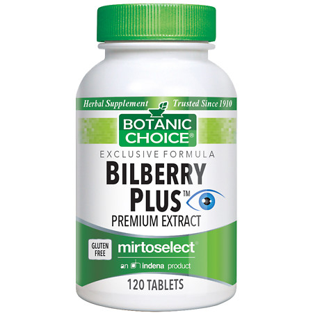 Botanic Choice Bilberry Plus Herbal Supplement Tablets - 120 ea.