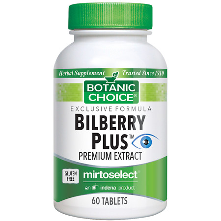 Botanic Choice Bilberry Plus Herbal Supplement Tablets - 60 ea.