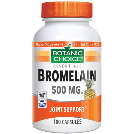 Botanic Choice Bromelain 500 mg Herbal Supplement Capsules - 180 ea.