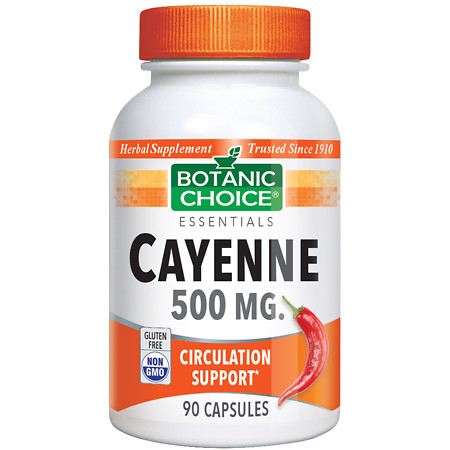 Botanic Choice Cayenne 500 mg Herbal Supplement Capsules - 90 ea.