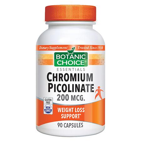 Botanic Choice Chromium Picolinate 200 mcg Dietary Supplement Capsules - 90 ea