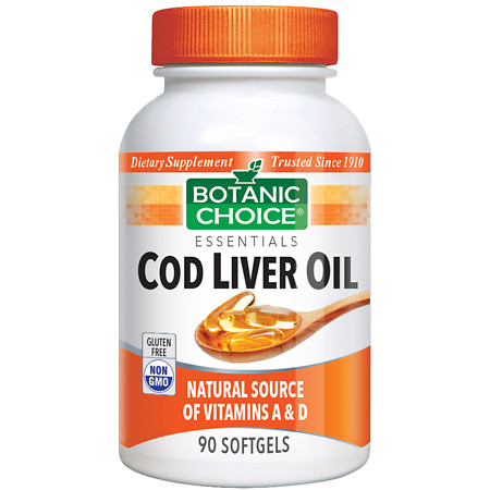 Botanic Choice Cod Liver Oil Dietary Supplement Softgels - 90 ea.