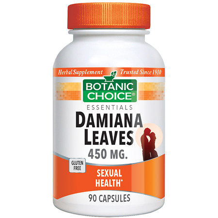Botanic Choice Damiana Leaves 450 mg Herbal Supplement Capsules - 90 ea.