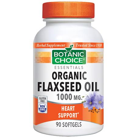 Botanic Choice Flaxseed Oil 1000 mg Herbal Supplement Softgels - 90 ea.